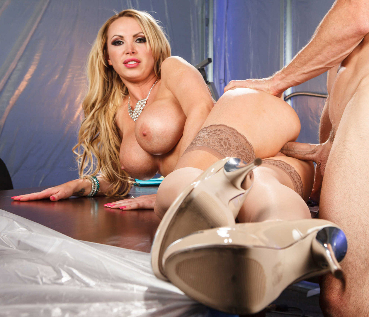 Nikki benz joined in an anal fuck fest